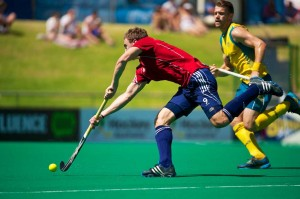 Kookaburras v England,  International Super Series Hockey 9s Final.  Perth Hockey Stadium. 25 November 2012